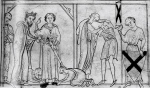 """Making a Knight"" (BL MS Nero D.i.f.3; mid 13th-century)"