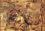"""Inspiration of Ancient Literature: The Iliad, """"Achilles defeated Hector"""" (Peter Paul Reubens 1577-1640, oil on canvas)"""