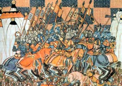 "Inspiration of Medieval Language & Literature: Chansons de Geste (""Destruction of German Crusade by Seljuk Turks at 2nd Battle of Dorylaeum"")"