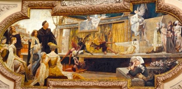 Inspiration of Medieval Language & Literature: Medieval Mystery Plays (Franz Matsch, 1885)