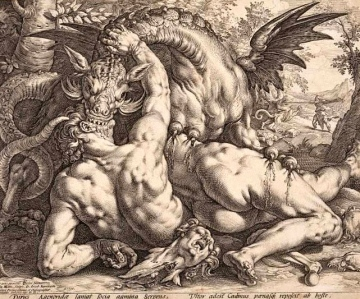 "Inspiration of Medieval Language & Literature: The Latin Poem, ""Ovid's Metamorphoses"" (Dragon devouring companions of Cadmus)"