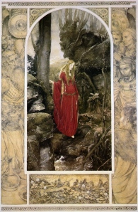 """Inspiration of Medieval Language & Literature: The Mabinogion (""""Cullwch and Olwen,"""" art by Alan Lee)"""