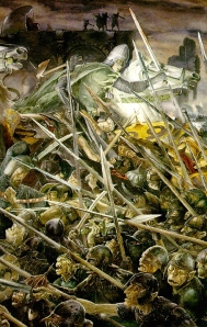 "J.R.R. Tolkien, ""The Return of the King"" (""The Siege of Gondor,"" by Alan Lee)"