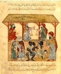 Medieval Slave Market, Yemen (13th c., Illum. ms. Biblio. Nat. France, Paris)