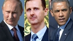 Modern Day Syrian Realities: Russian President Vladimir Putin, Syrian President Bashar Assad, and U.S. President Barack Obama (RIA Novosti News Agency, Russia, 10/9/2013)
