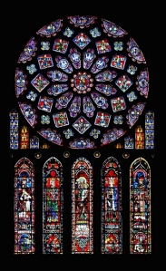 The 12th Century Renaissance: Rose Window, Chartres Cathedral (12th century)