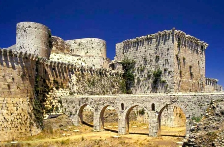 Inspiration of Medieval Language & Literature: The Chansons de Geste (Crusader Castle of the Krak des Chevaliers, Syria)