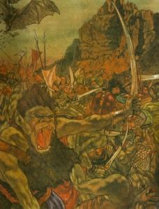 "J.R.R. Tolkien, ""The Hobbit"" (""The Clouds Burst,"" by Michael Hague, 1984)"