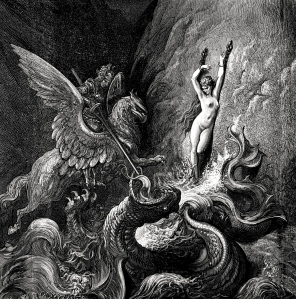 "Inspiration of Ancient and Medieval Ideas: The Romantic Epic, Ariosto's ""Orlando Furioso"" (Gustave Doré"