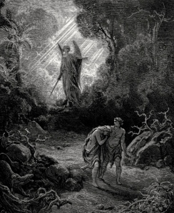 Inspiration of Ancient & Medieval Ideas: Adam & Eve Expelled from the Garden (Gustave Doré)
