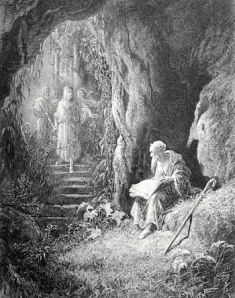"""Merlin & Vivien"" (from Tennyson's ""Idylls of the King,"" illus. by Gustave Doré, 1867)"
