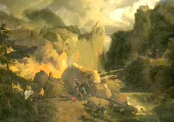 """Roland and Oliver at the Battle of Roncesvalles"" (Achille-Etna Michallon, 1796-1822)"
