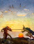 """The Death of Arthur & Mordred"" (N.C. Wyeth, in ""The Boy's King Arthur,"" 1917)"