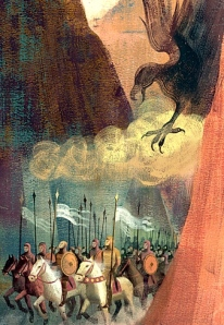 """The Song of Roland"" (Folio Society, illustration by Anna & Elena Balbusso)"