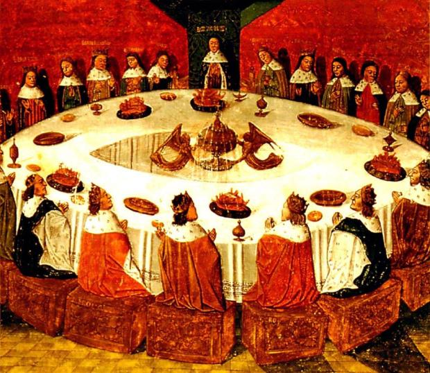"""King Arthur and the Knights of the Round Table"" (Michel Gantelet, 1472)"