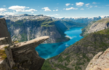 "Inspiration of the Viking Age & Scandinavian Lands (Trolltunga, Norway; ""Troll's Tongue"")"