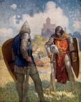 """Arthurian Knights: """"Lancelot du Laic"""" (N.C. Wyeth, 1917)"""