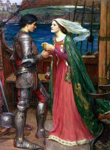 """Arthurian Knights: """"Tristan and Iseult"""" (John William Waterhouse, 1916)"""
