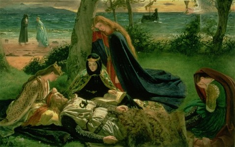 "Inspiration of Medieval Language & Literature: ""Le Morte D'Arthur, James Archer, 1860)"