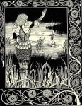 "Arthurian Knights: ""Bedivere Casting Excalibur into Water"" (Aubrey Beardsley, 1894)"