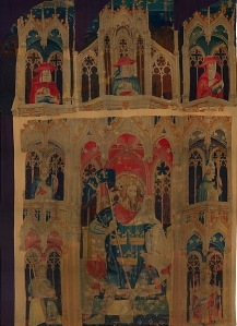 "The Idea of Arthur Reflected Each Age's Own Cultural Milieu (""King Arthur and Attendants, acc. nos. 32.130.3a & 47.101.4, from ""Nine Heroes Tapestries"", c. 1400; Metropolitan Museum of Art)"