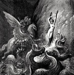 "Inspiration of Early Modern Literature: Ludovico Ariosto's ""Orlando Furioso"" (""Ruggiero Rescuing Angelica,"" by Gustave Doré)"