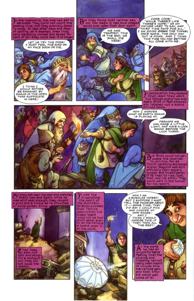 "J.R.R. Tolkien, ""The Hobbit: Ch. 13, Not at Home"" 1 (illus. by David Wenzel)"