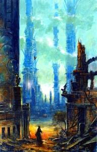 "M. John Harrison's ""Viriconium"" series (art by Les Edwards)"