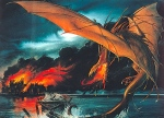"J.R.R. Tolkien, ""The Hobbit, Ch. 14: Fire and Water"" (art John Howe)"