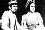 "Leonard Nimoy (Arthur) and Barbara Williams (Guinevere) in ""Camelot"" (1973)"
