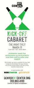 Kick-Off Cabaret Flyer cover