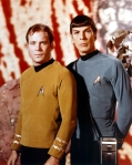 "William Shatner & Leonard Nimoy, as ""Captain Kirk & Mr. Spock"" (Star Trek)"