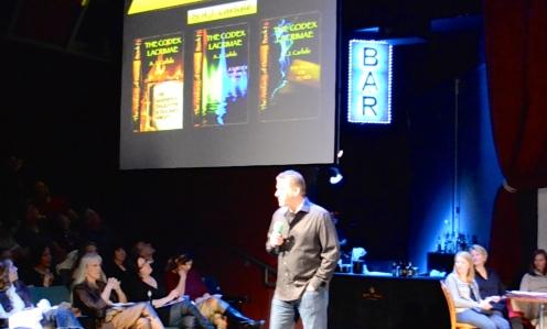 "AJ promotes Kickstarter project ""The Codex Lacrimae"" (Off-Center at the Jones Theatre, DCPA; Friday, March 13, 2015)"