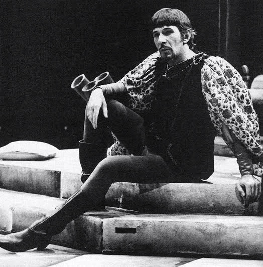 "Leonard Nimoy as King Arthur (in 1973 ""Camelot,"" musical based on T.H. White's ""Once and Future King"")"