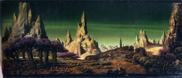 Henri Hillinick's matte painting for the Metro-Goldwyn-Mayer film,
