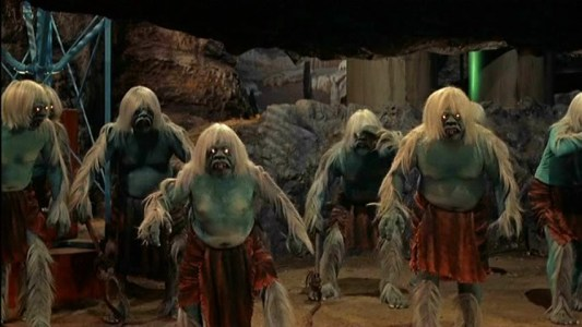 The conflict between Morlocks and Eloi in H.G. Wells's