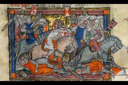 Rochefoucauld Grail (3-vol. compendium of English & French Arthur legends, 14th c).