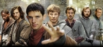 "Colin Morgan (Merlin) and Bradley James (Arthur) in ""Merlin"" (BBC tv series, 2008-2012)"